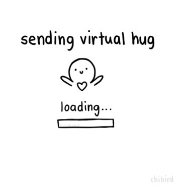 Sending virtual hug... loading... hug sent! gif