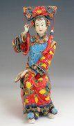 Ancient Qing Dynasty Concubine Woman Ceramic Figurine