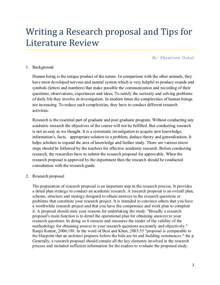 literature review dissertation proposal