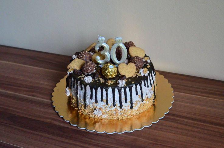 ferrero rocher cake biscuits peanuts chocolate