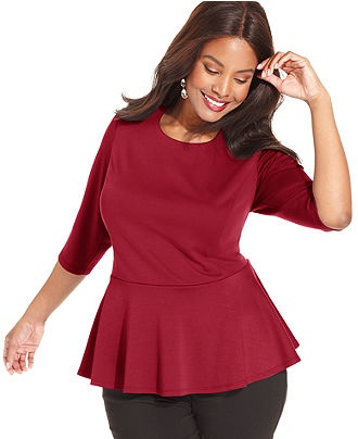 Plus Size Peplum Tops - results from brands Ashley Stewart, Unique Bargains, 24/7 Comfort Apparel, products like