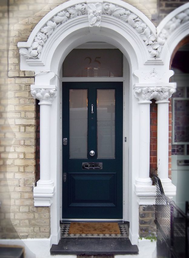 A Classic Victorian Door In Balham With Sandblasted