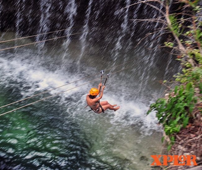 Zip line at XPLOR Cancun. The most amazing experience!