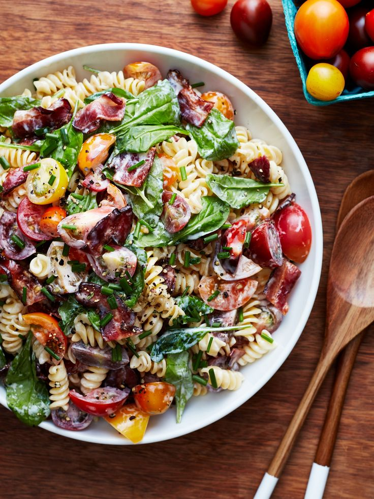 Recipe: BLT Pasta Salad — Quick and Easy Weeknight Dinners #recipes #food #kitchen