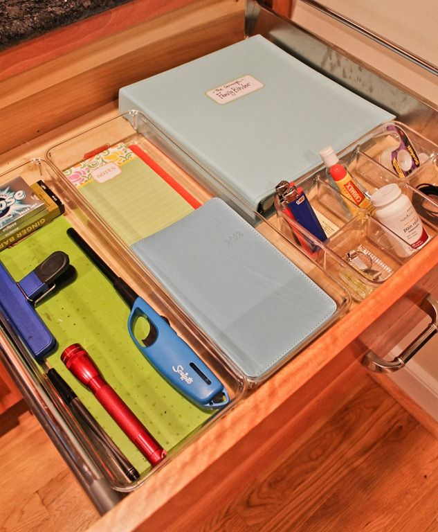 Organization Ideas For Junk Drawers: This Lady's Website Has Great Organizational Ideas For The