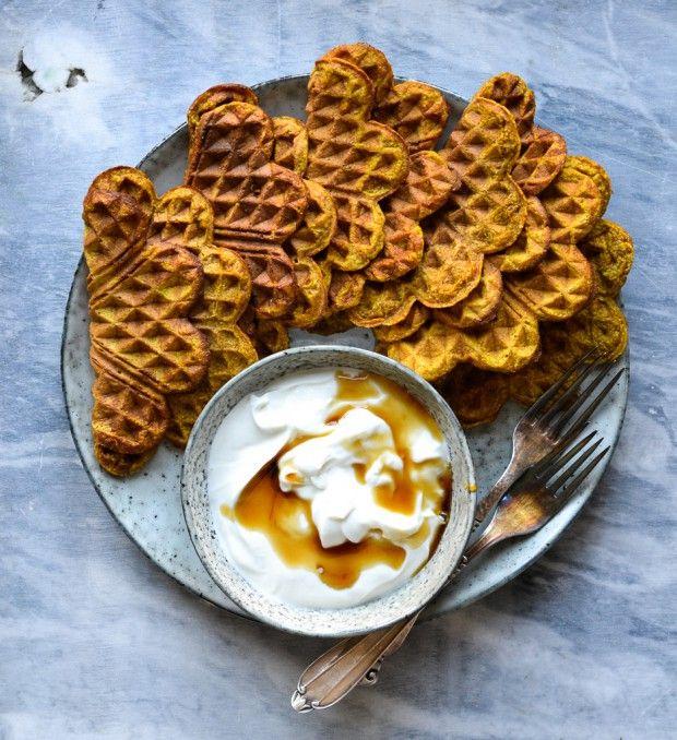 Pumpkin Waffles - A Tasty Love Story