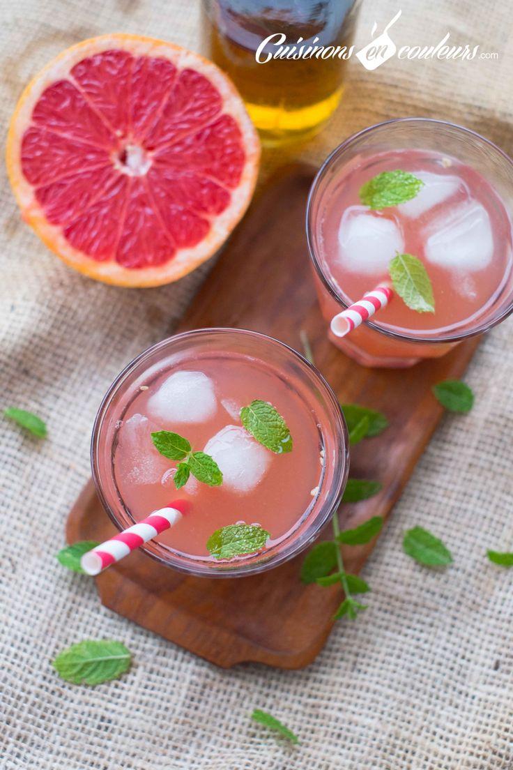 La recette du thé glacé au pamplemousse est très très facile à faire et hyper rafraichissant : c'est parfait pour l'été !