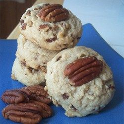 Don't forget the Pecan Sandies! Today is National Pecan Sandy day. Ready in thirty minutes. Enjoy Allrecipes.com