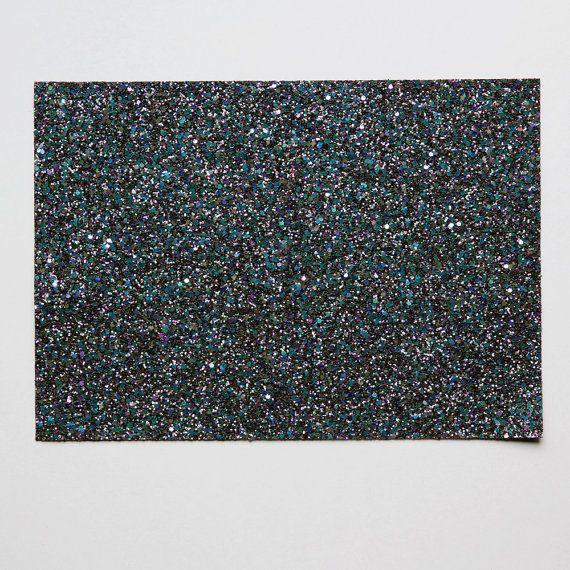 glitter fabric sheet Metallic petrol mix glitter by GlitterFabrics