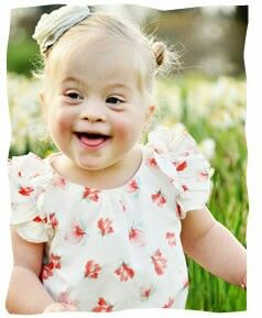 Toddler with down syndrome