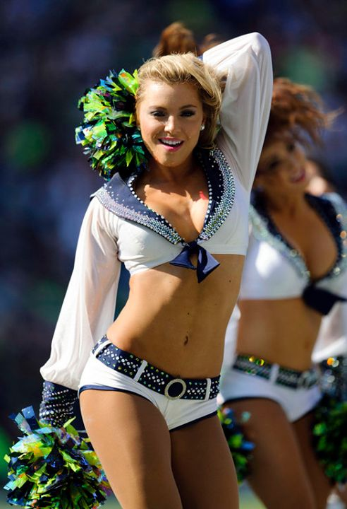 Photos of NFL cheerleader team: Seahawks, Cardinals and Broncos