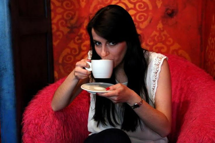 Our journalist Magda with a cup of #coffee #coffeetime #coffeelovers