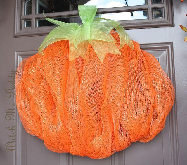 Mesh pumpkin wreathCrafts Ideas, Deja Vu, Fall Decor, October 2011, Pumpkin Wreaths, Halloween Labels, Mesh Pumpkin, Holiday Decor, Deco Mesh