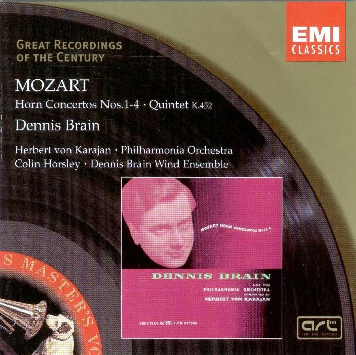 Horn Concertos featuring the English horn player Dennis Brain along with Herbert von Karajan conducting the Philharmonia is one of my favourite Mozart CDs