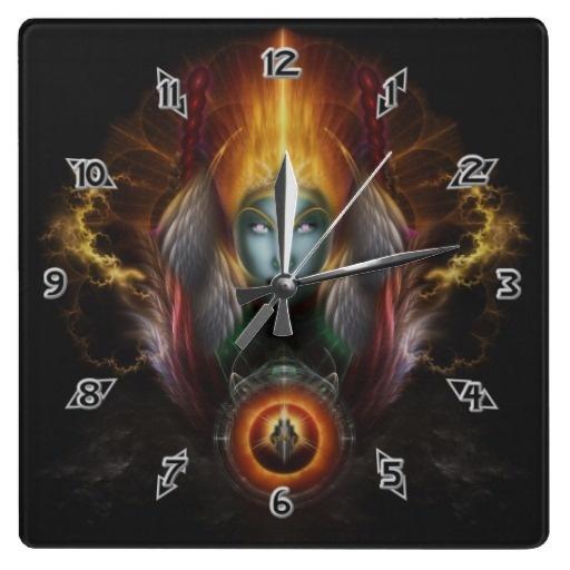 Riddian Queen Dynasty Of Power BLK Wall Clock $27.95 - Click Here http://xzendor7.com/xzendor7-wall+clocks.php