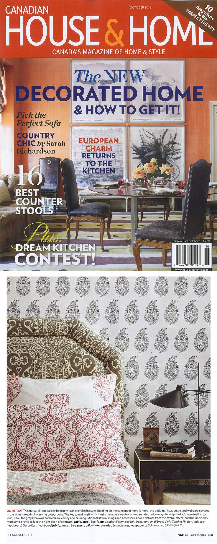 The October Issue Of Canadian House And Home Magazine Has