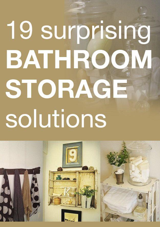 19 surprising bathroom storage solutions