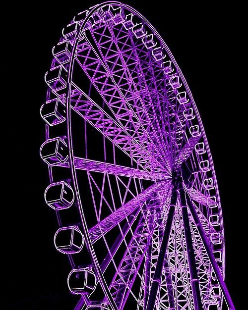 Purple lighted Ferris Wheel