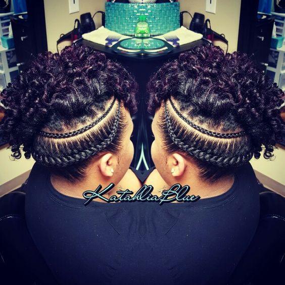 Natural Hair UpdoFlexi Rod SetCornrows Hairstyles
