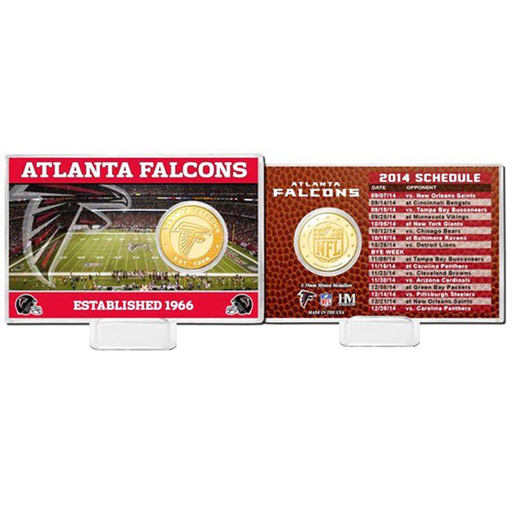 Atlanta Falcons Highland Mint Schedule Coin Card - $15.99