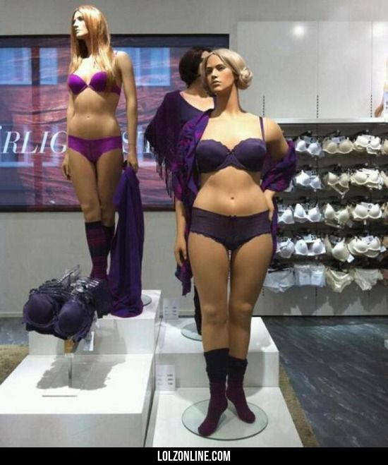 Store mannequins in Sweden. They look like real women #lol #haha #funny