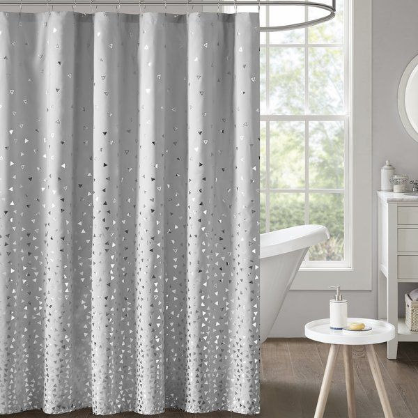 Ostler Printed Single Shower Curtain White Shower Curtain