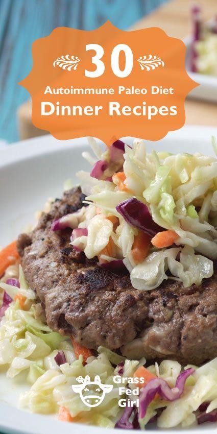 30 Autoimmune Paleo Diet Dinner Recipes | http://www.grassfedgirl.com/30-autoimmune-paleo-diet-healthy-dinner-recipes/