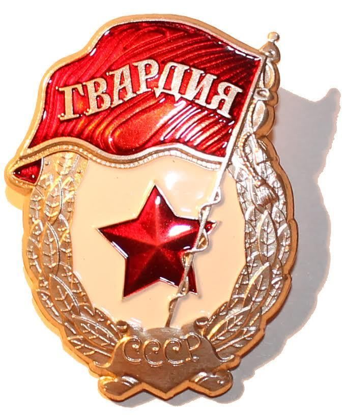 Soviet USSR Russian Red Army Gvardia Order Pin Medal Badge