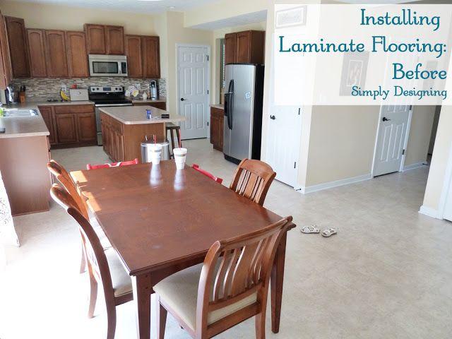 How to Install Laminate Wood Flooring | #diy #homeimprovement #flooring | Simply Designing