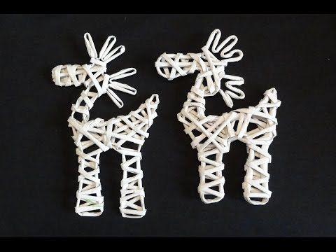 Papierowa wiklina - jak zrobić renifera z papierowej wikliny / reindeer of wicker paper - YouTube