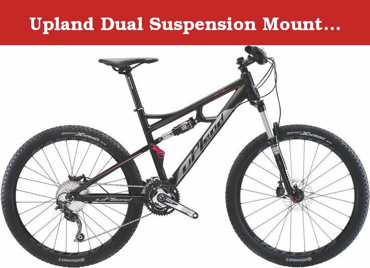 """Upland Dual Suspension Mountain Bike Fate 27.5 Medium (Red). Speed:30S Chainwheel:SHIMANO DEORE 42/32/24T Frame:Alloy 7005 travel 1120MM Wheels:EASTON XR front 15*100 rear 12*142 Fork:ROCKSHOX SEKTOR SLIVER travel120MM Tires: Continental X-KING 27.5""""*2.2"""" F deraileur:SHIMANO DEORE Shifting lever:SHIMANO DEORE Brake:SHIMANO DEORE Hydraulic disc brake Normal size:27.5""""*17""""."""