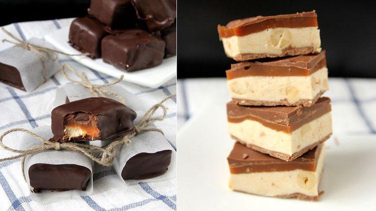 Slik lager du hjemmelaget Snickers-sjokolade - Godt.no - Finn noe godt å spise