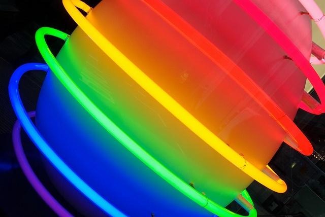 neon rainbow egg