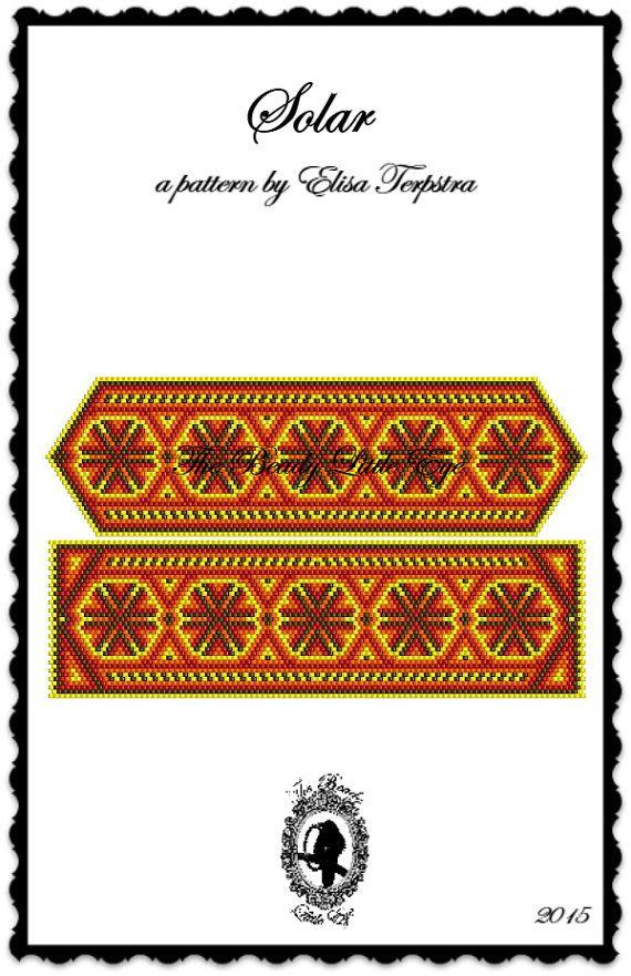 Peyote Pattern Bracelet Peyote Stitch Beading Patterns Mexican Pattern Huichol Pattern Solar Pattern