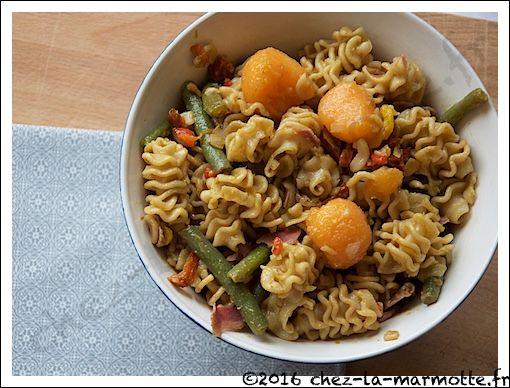 Salade de pâtes inspiration « sud-ouest » – Marmotte cuisine !
