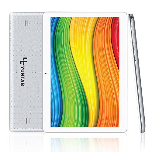 Yuntab 10.1 inch Tablet Android 5.1 Wifi Unlocked 3G Phone Tablet PC 1GB+16GB MTK 6580 Quad-Core IPS Screen 1280x800 Dual camera Cell phone Support 2G 3G Wifi Dual SIM Card Bluetooth (Silver) - $75.99 - 75.99
