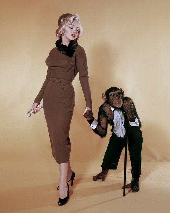 Marilyn and friend: