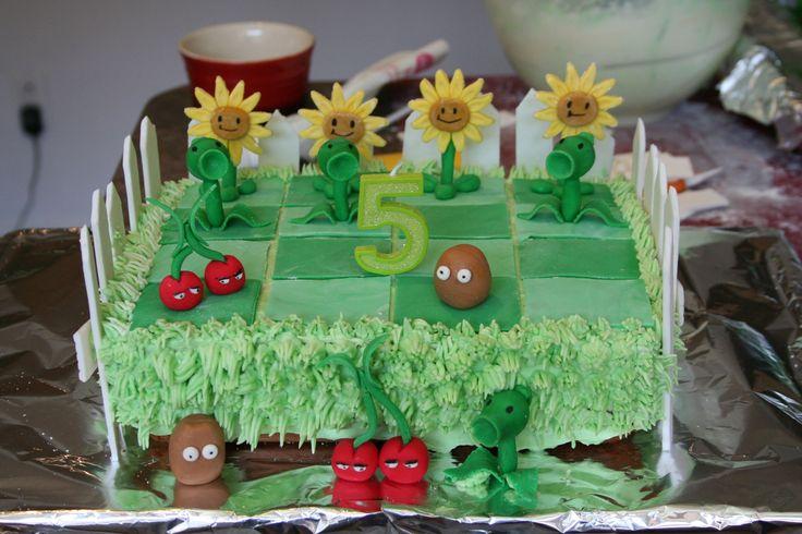 """Gâteau pour une fête """"Plants vs Zombies"""""""