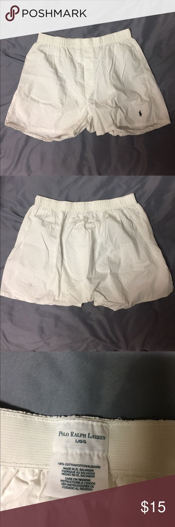 Polo Ralph Lauren Boxers (NWOT) white boxers from Polo Ralph Lauren. 100% cotton. Were tried on over a pair I was wearing - not for me. Polo by Ralph Lauren Underwear & Socks Boxers