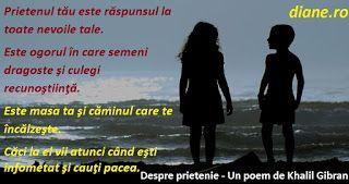 diane.ro: Despre prietenie - Un poem de Khalil Gibran