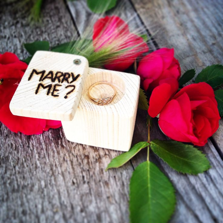 Коробочка для колец. Marry me?  box for rings. Marry me?