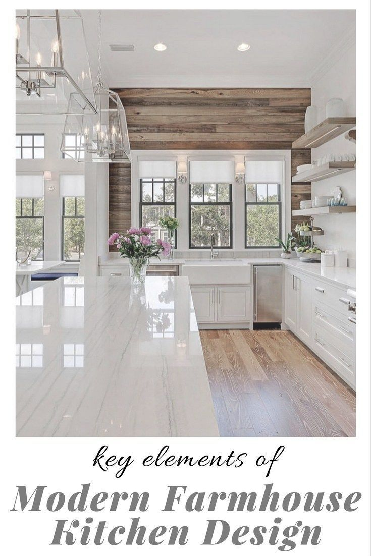 What makes a beautiful modern farmhouse kitchen? Here we feature some of the most prevalent, and important, key elements of modern farmhouse kitchen design that we are seeing in some of the most stunning kitchens today #kitchendesigns