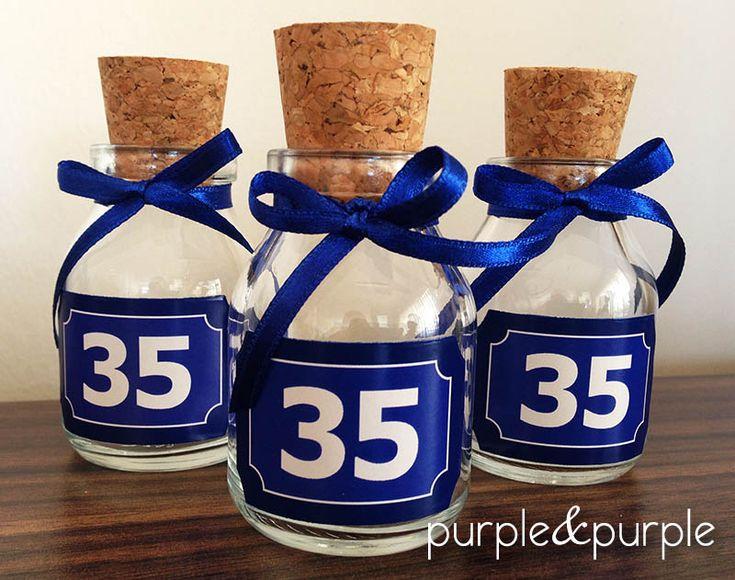 35 yaş temalı minik şişeler   35 yaş doğum günü   35th birthday