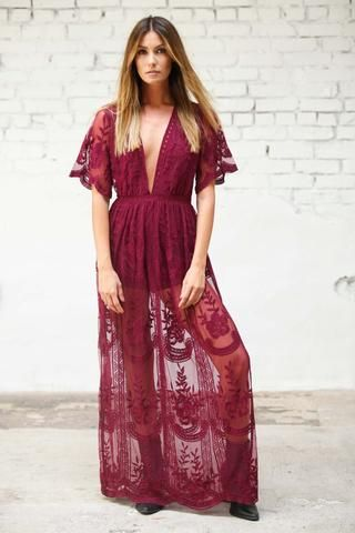 flutter sleeves dress, plunging neckline dress, deep v dress, lined shorts maxi, black maxi dress, lace maxi dress, discount for love and lemons, boho chic, bohemian chic, modern hippie, modern gypsy, festival clothing