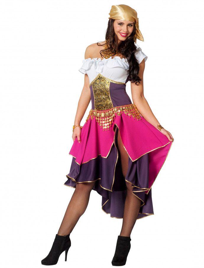 Kleid Gipsy 2 Tlg Fur Karneval Fasching Deiters Wahrsagerin