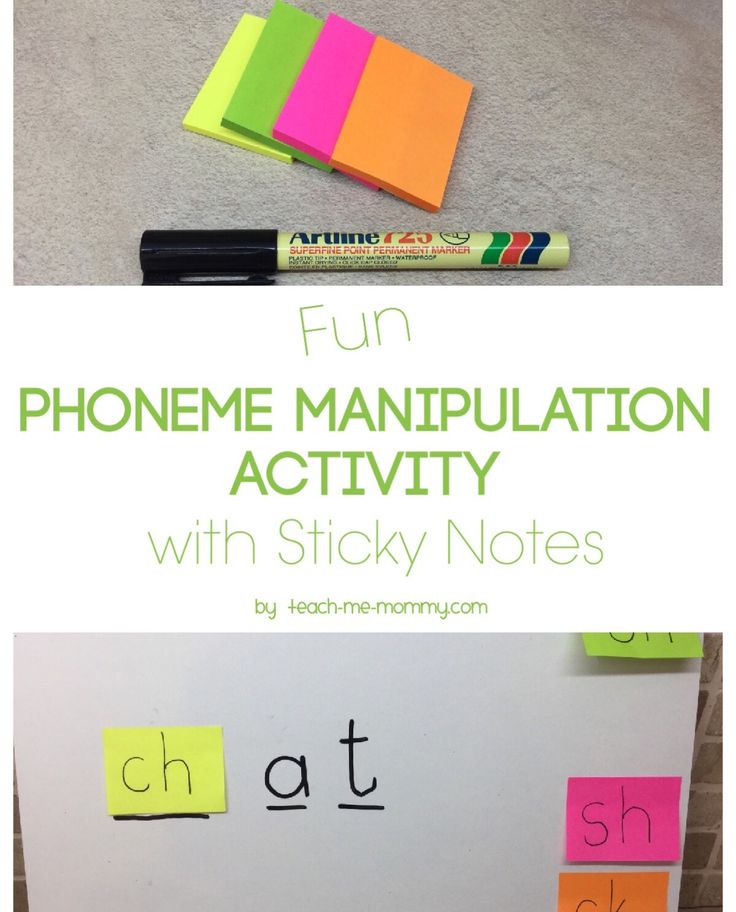 Phoneme Manipulation with Sticky Notes