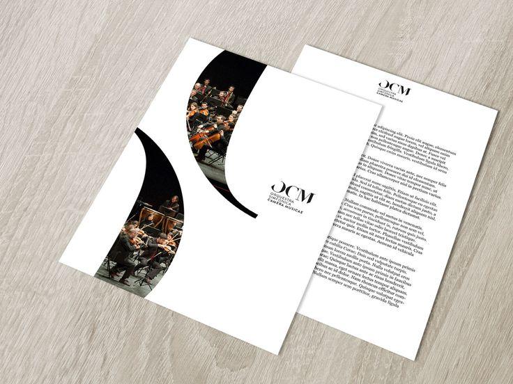 OCM - Orquestra Simfonica Camera Musicae #logo #identity #identitydesign #branding #brandingdesign #stationery