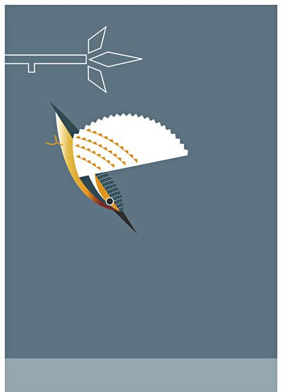 "Print ""Kingfisher"" of the Irish Bird Series by Alan Nagle"