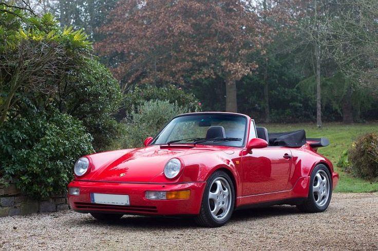 PORSCHE 911 930 3.3 Turbo 300 ch cabriolet Rouge occasion - 80 000 € - 46 477 km - vente de voiture d'occasion - Motorlegend
