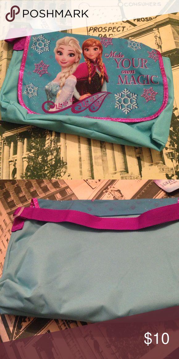 Disney frozen princess book bag ✨ sparkling frozen book bag with adjustable strap and Velcro close Disney Accessories Bags